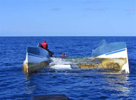 Sailboat Used In Adrift by Catamaran Hull Located Adrift At Sea Nsri Org Za