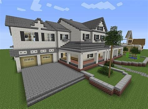 minecraft modern house minecraft a well