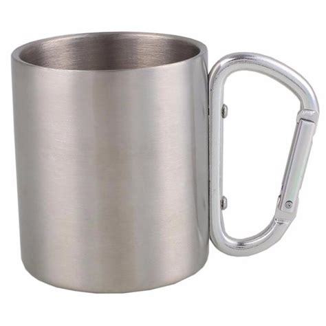 Gelas Lipat Stainless Unik gelas mug stainless steel gagang lipat 200ml bw2505035