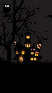 Wallpaper Halloween  Castle  Moon  Pumpkins  Bats  Moon