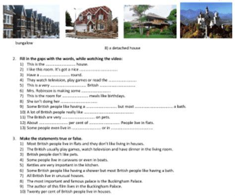 worksheet homes  britain types  houses