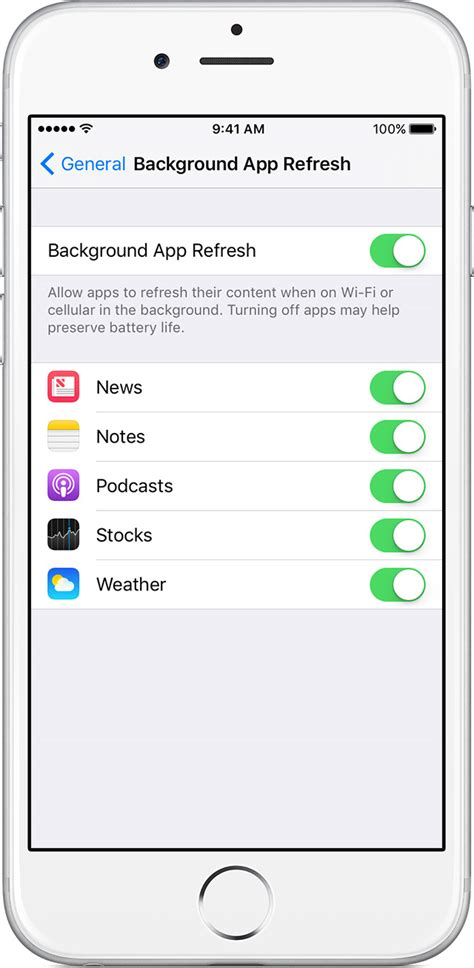 Background Refresh How To Disable Background Refreshing For Ios Apps When On