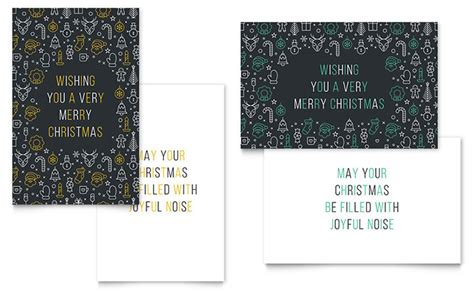 christmas wishes greeting card template word publisher