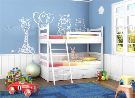 stickers girafe chambre bébé stickers muraux chambre enfant animaux jungle girafe kit