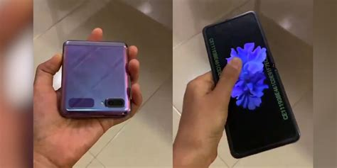 Here's what it's like to use it. Samsung Galaxy Z Flip leaks in first hands-on video [Video ...