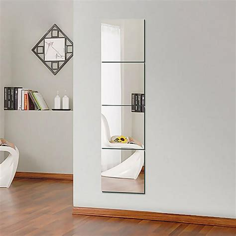 9 16pcs square mirror surface wall stickers 3d decal