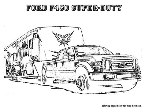 Semi Truck Trailer Coloring Pages