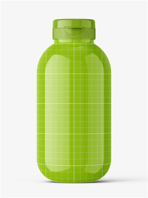 Vector image clear glossy plastic baby bottle vector mockup. can be used for personal and commercial purposes according to. Cosmetic glossy bottle mockup - Smarty Mockups