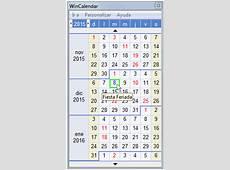 Calendario PopUp de Desktop Gratis con Días Feriados para
