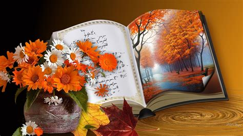 book  autumn pictures   images  facebook