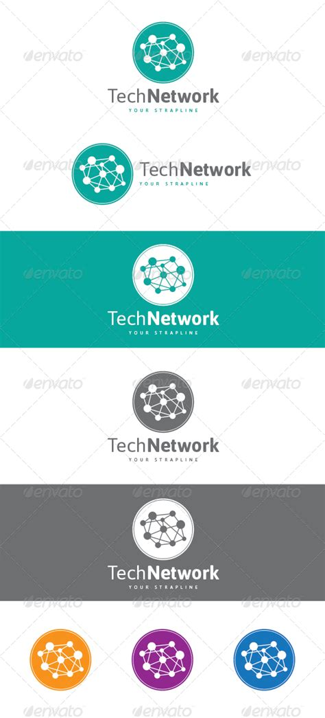 tech network logo graphicriver