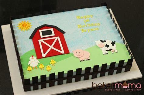 Cute Farm Cake By Bakermama  Cakes  Sheet Cakes