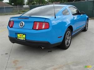 Grabber Blue 2010 Ford Mustang V6 Premium Coupe Exterior Photo #47710307 | GTCarLot.com