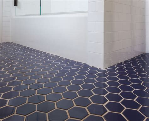 hexagon tile floor blue hexagon tile bathroom floor cabinet hardware room ideas more fashionable hexagon tile