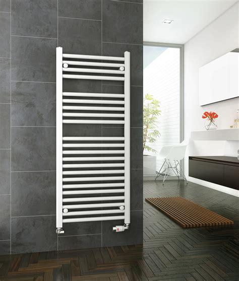 dq heating metro mm wide straight heated towel rail