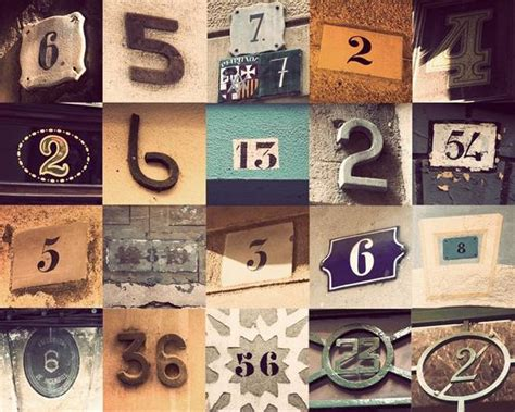 Number 3 Home Decor : Whimsical Print Home Decor Number Art Door Art Address By