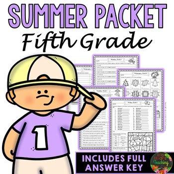Fifth Grade Summer Packet (fifth Grade Summer Review Homework) Tpt