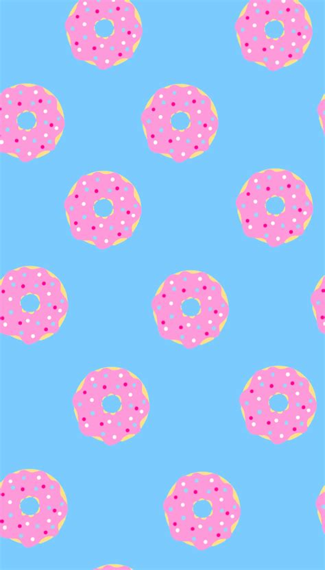 Please contact us if you want to publish a cute donut wallpaper on our site. Donut wallpaper in 2020 | Cute patterns wallpaper, Wallpaper, Pattern wallpaper