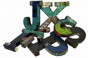 Lettre Metal Vintage : lettres m talliques vintage fabriqu e par francisco segarra ~ Teatrodelosmanantiales.com Idées de Décoration