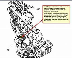 Service Manual  Install Serpintine Belt 2003 Buick Regal