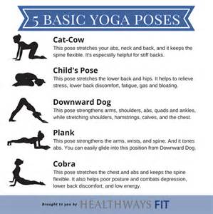 Basic Beginner Yoga Poses Chart