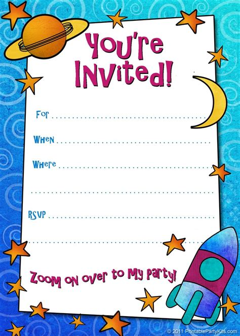 Free Printable Boys Birthday Party Invitations HubPages