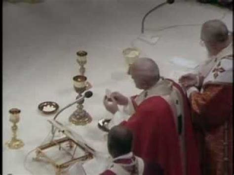 pope paul ii chants the pater noster il papa paolo ii canta il pater noster