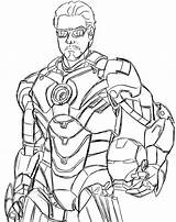 Iron Coloring Marvel Ausmalbilder War Machine Drawing Captain Stark Avengers Tom Tony Kaynak America sketch template