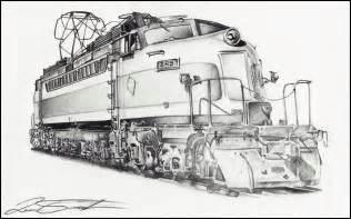 Train Pencil Drawing