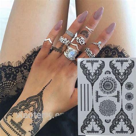 assez temporaire tatouages au henne noir impermeable