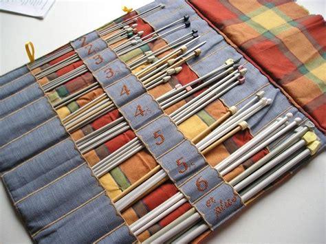 trousse porte aiguilles 224 tricoter l int 233 rieur tricot porte aiguilles aiguille tricot