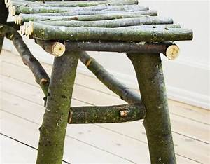 Diy   How To Make A Twig Bench