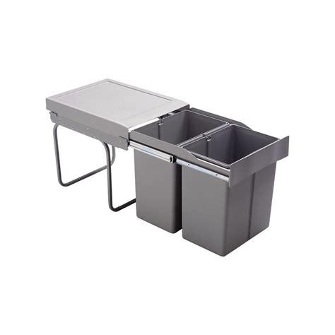 poubelle cuisine 2 bacs poubelle cuisine coulissante 2 bacs 42 litres
