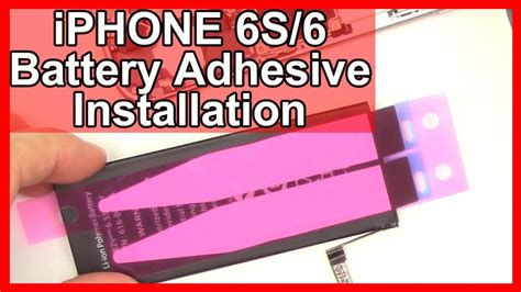 iphone  battery adhesive installation