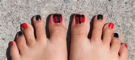 pedicure toes ladybug designs summer easy these