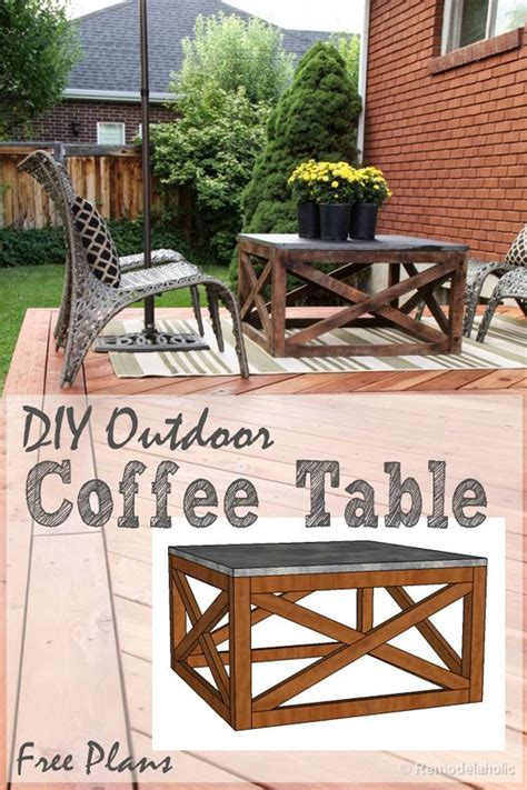 Unless you call balancing a cup of coffee we personally do not, so that's why we love this diy outdoor coffee table! 40 Incredible Industrial Farmhouse Coffee Table Ideas (With images)   Diy outdoor table, Outdoor ...