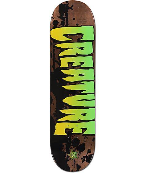 Zumiez Blank Skate Decks by Creature Stained 8 25 Quot Skateboard Deck At Zumiez Pdp