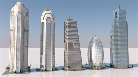 3D model futuristic skyscrapers   CGTrader