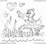 Outline Fox Coloring Match Royalty Clipart Lighting Illustration Rf Bannykh Alex Copyright Regarding Notes Without sketch template
