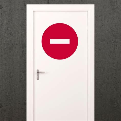 sticker chambre sticker porte signalétique sens interdit stickers