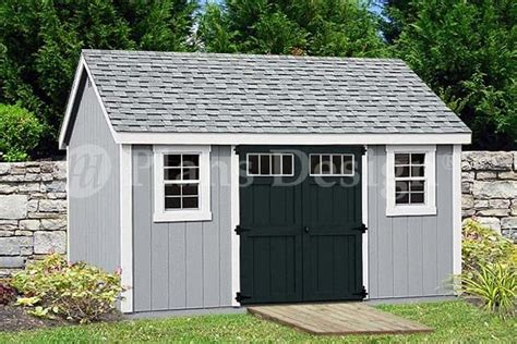 garden storage shed plans 10 14 gable roof design d1014g free material list ebay