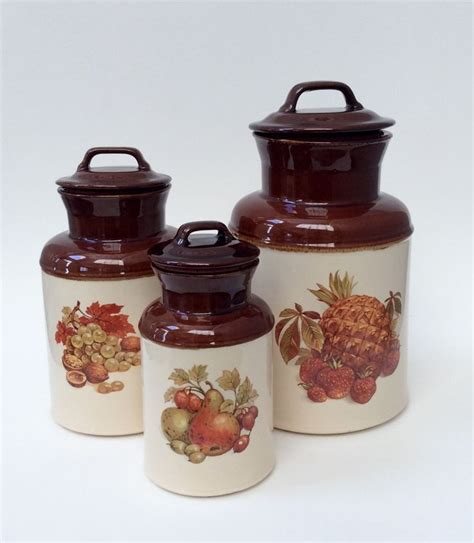 brown kitchen canisters mccoy fruit canisters mccoy brown milk bottle shaped