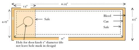 4 25 X 11 Door Hanger Template by Sending Files To Markots