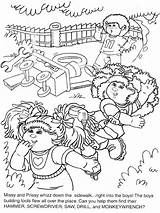 Cabbage Patch Coloring Dolls Sheets sketch template