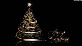 christmas tree gold and black hd wallpaper 05741 wallpaperspick com
