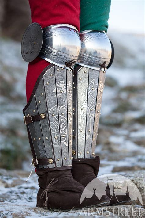 medieval sca legal splint combat armor greaves  knee