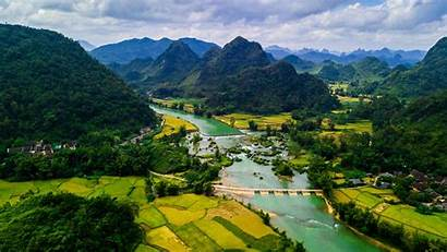 Vietnam Scenery Mountains Wallpapers Rivers Bang Backgrounds