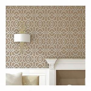 Geometric Allover Pattern Wall Stencil Emily for DIY decor ...