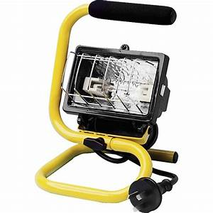 Arlec w portable halogen worklight bunnings warehouse