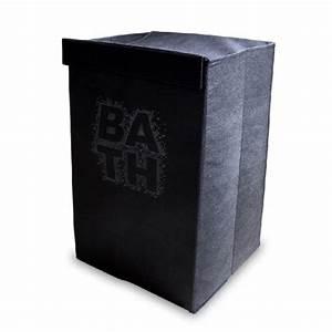 Panier A Linge Noir : panier linge pliable bath noir ~ Teatrodelosmanantiales.com Idées de Décoration